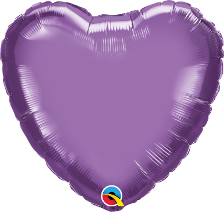 Heart Shaped Purple Chrome Foil Helium Balloon